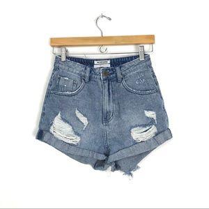 One X One Teaspoon High Waist Bandits Shorts 26 C2